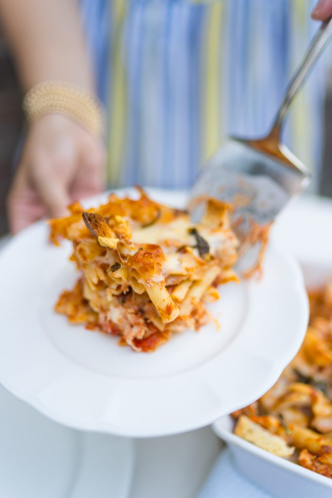 Easy to make chicken parmesan casserole
