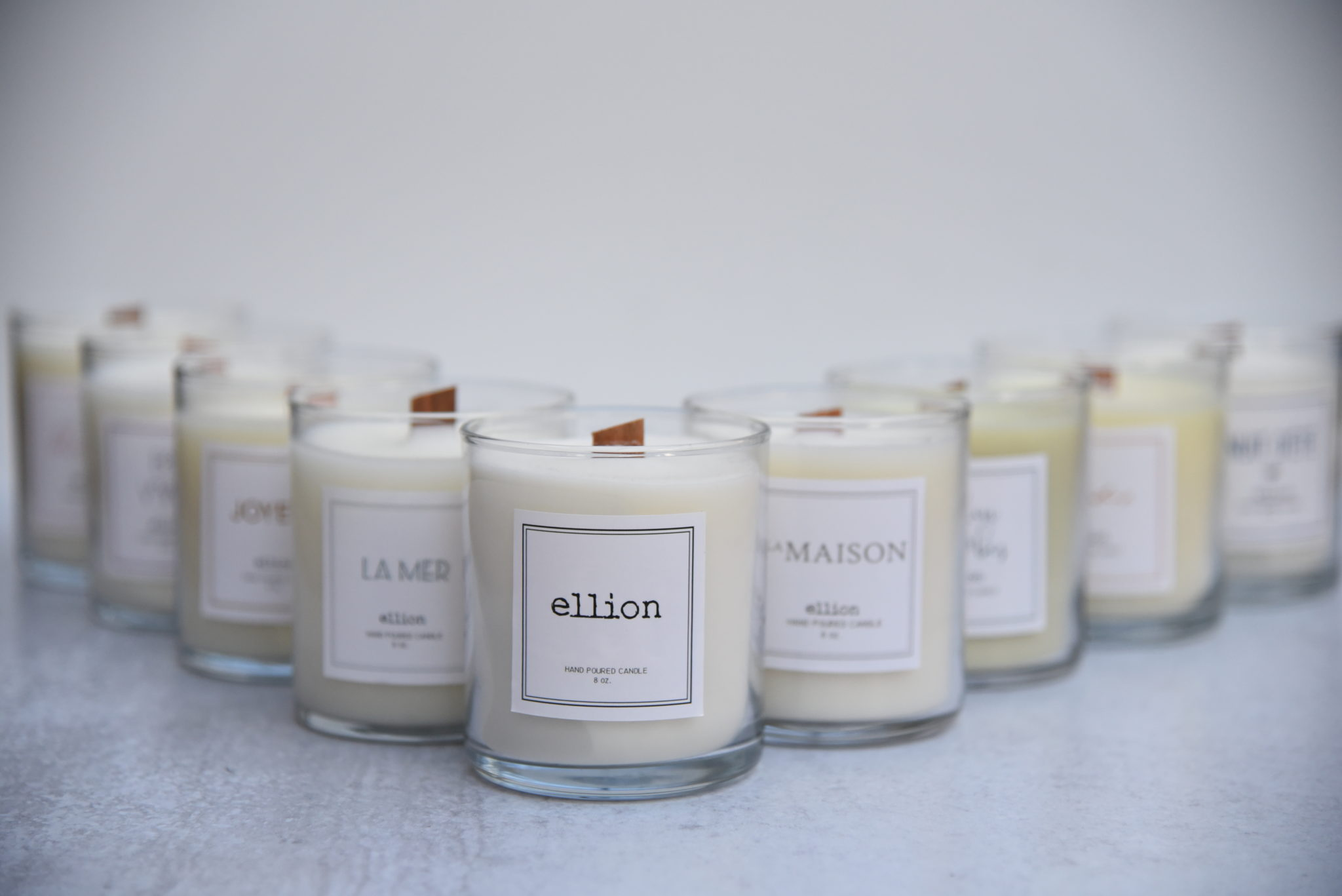 Ellion hand-poured candles
