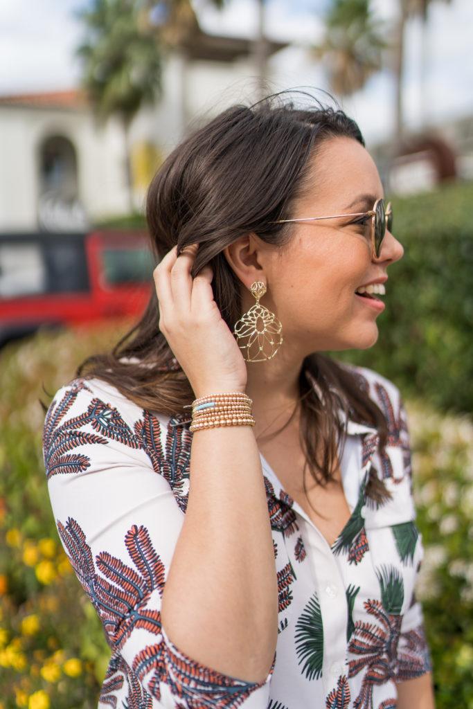 Kendra Scott Hallie earrings, Le Mel beaded bracelets