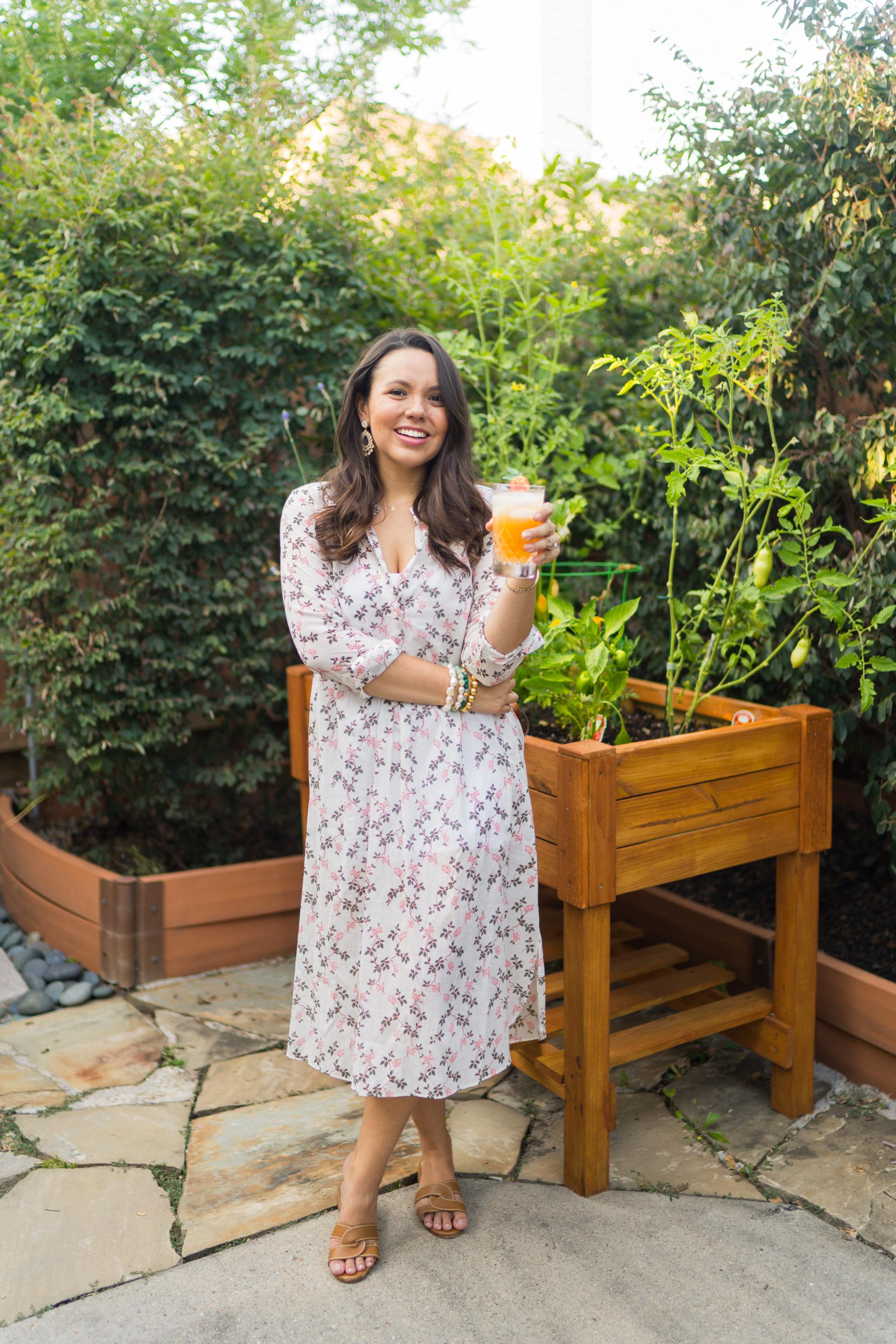 Floral grandmillennial housedress