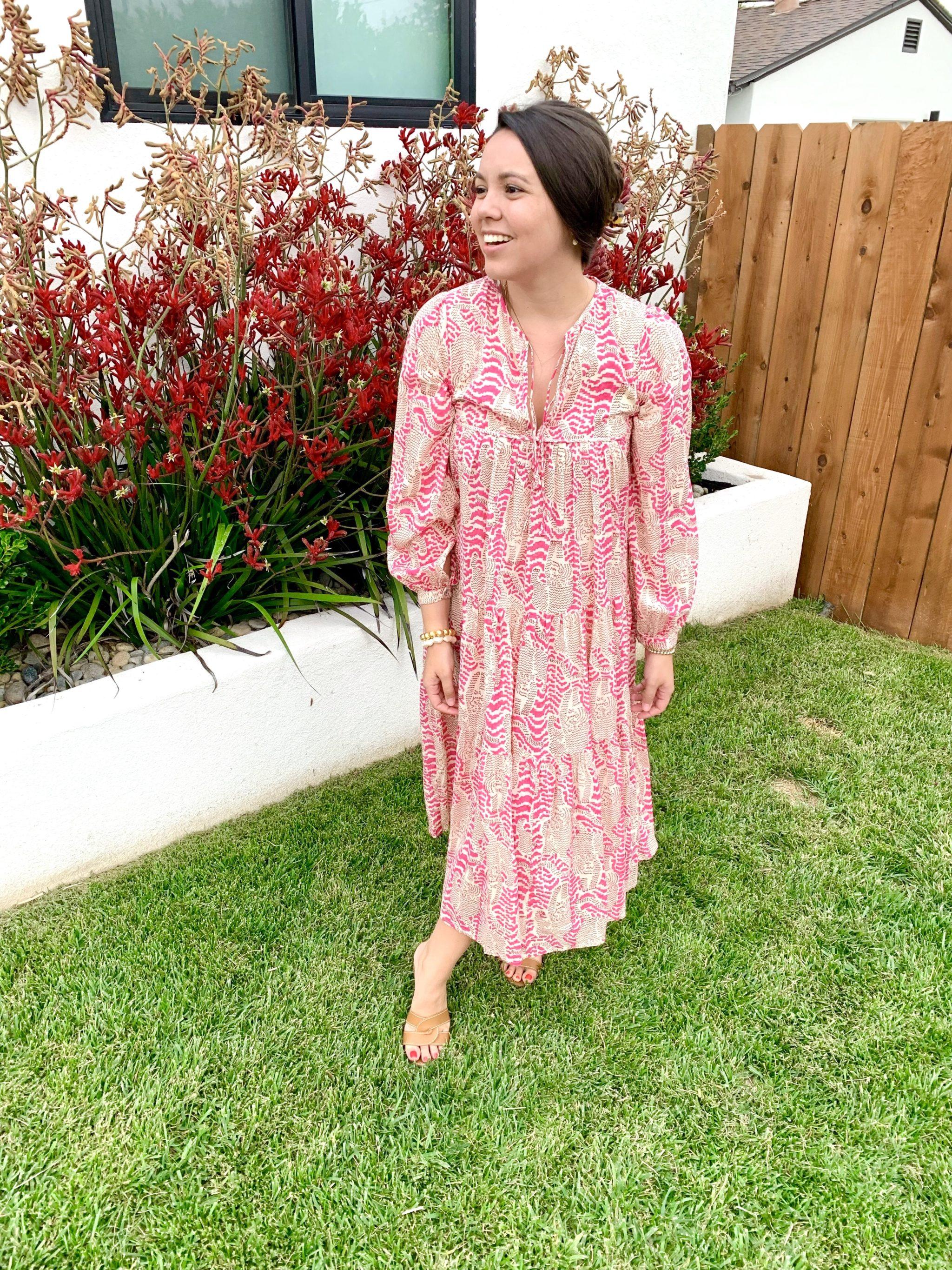 Grandmillennial Matta New York Yamini Tiger print dress
