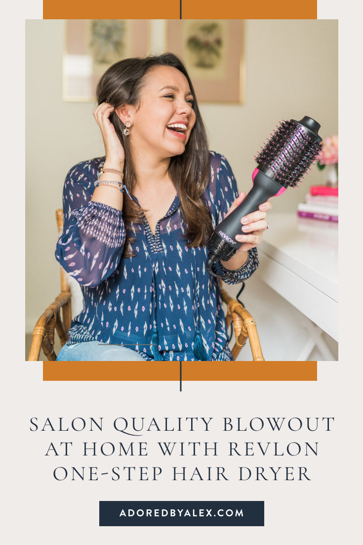 Salon quality blowout at home with Revlon One-Step Hair Dryer