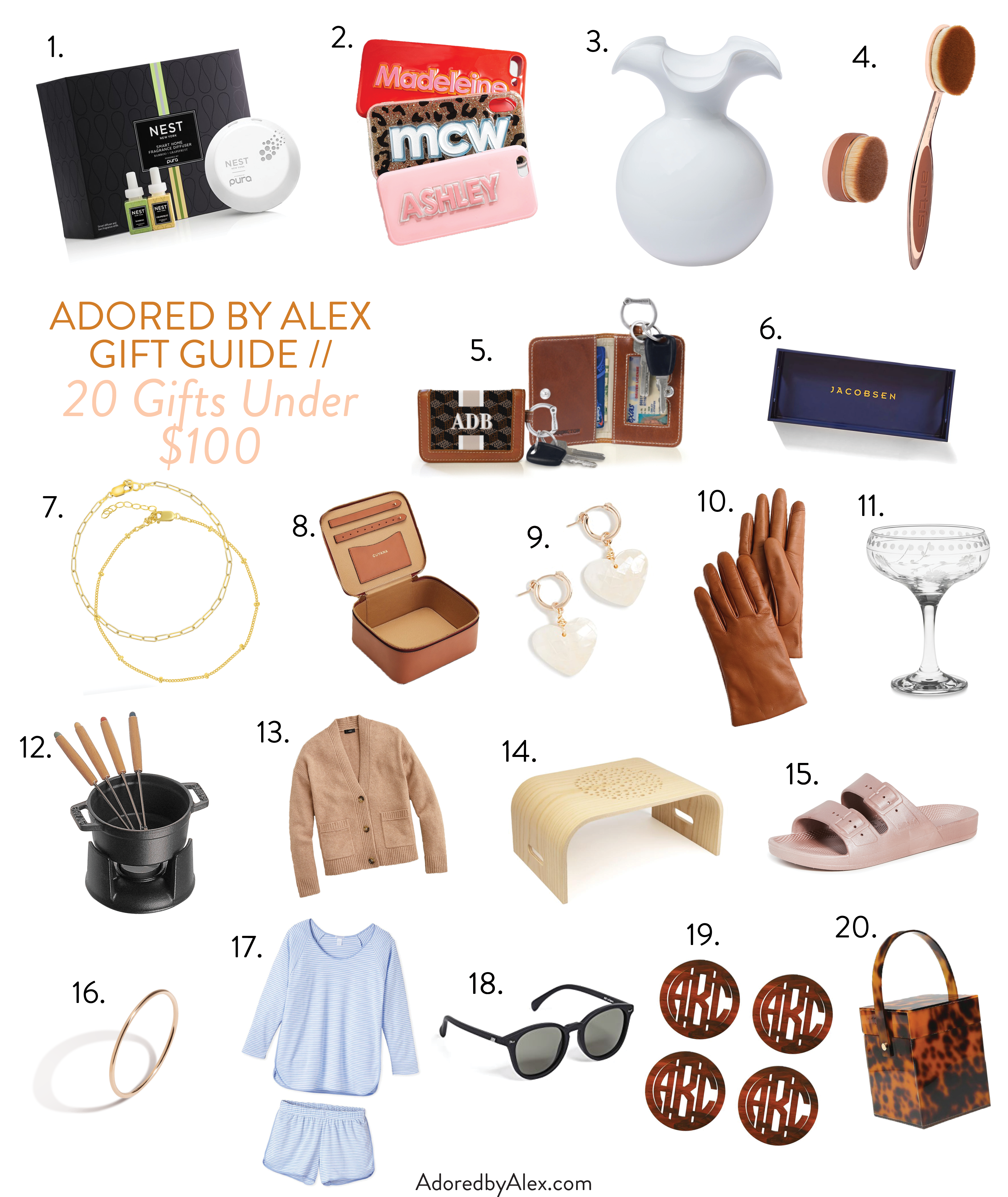 20 gifts for her under $100 - adored by alex