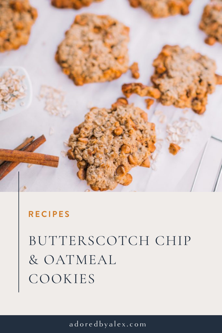 Butterscotch and Oatmeal cookies recipe