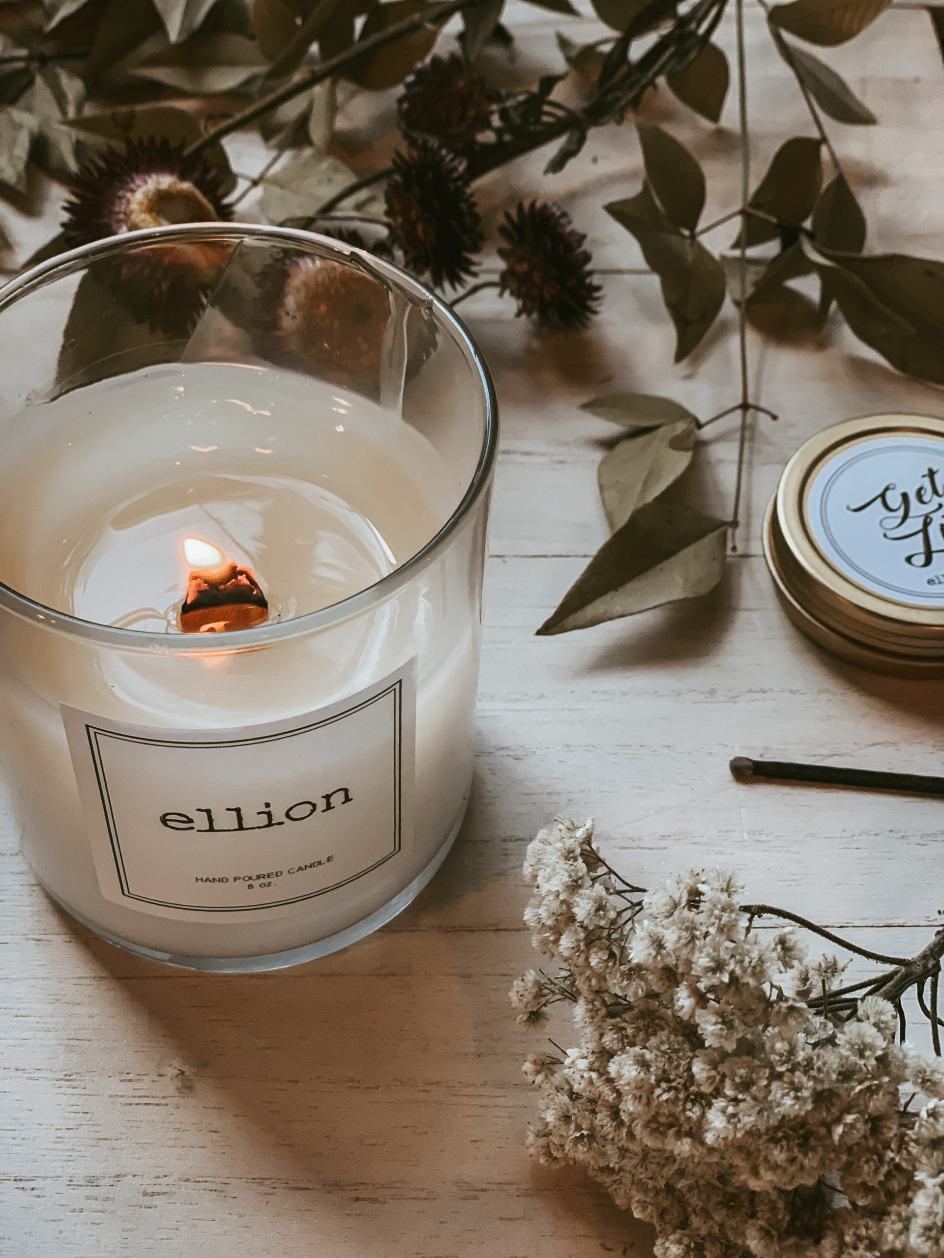 Ellion wood wick candles
