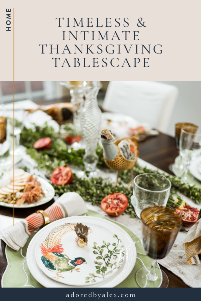 Timeless and intimate Thanksgiving tablescape