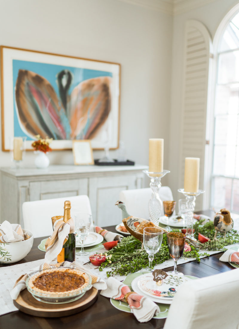Timeless & Intimate Thanksgiving Tablescape