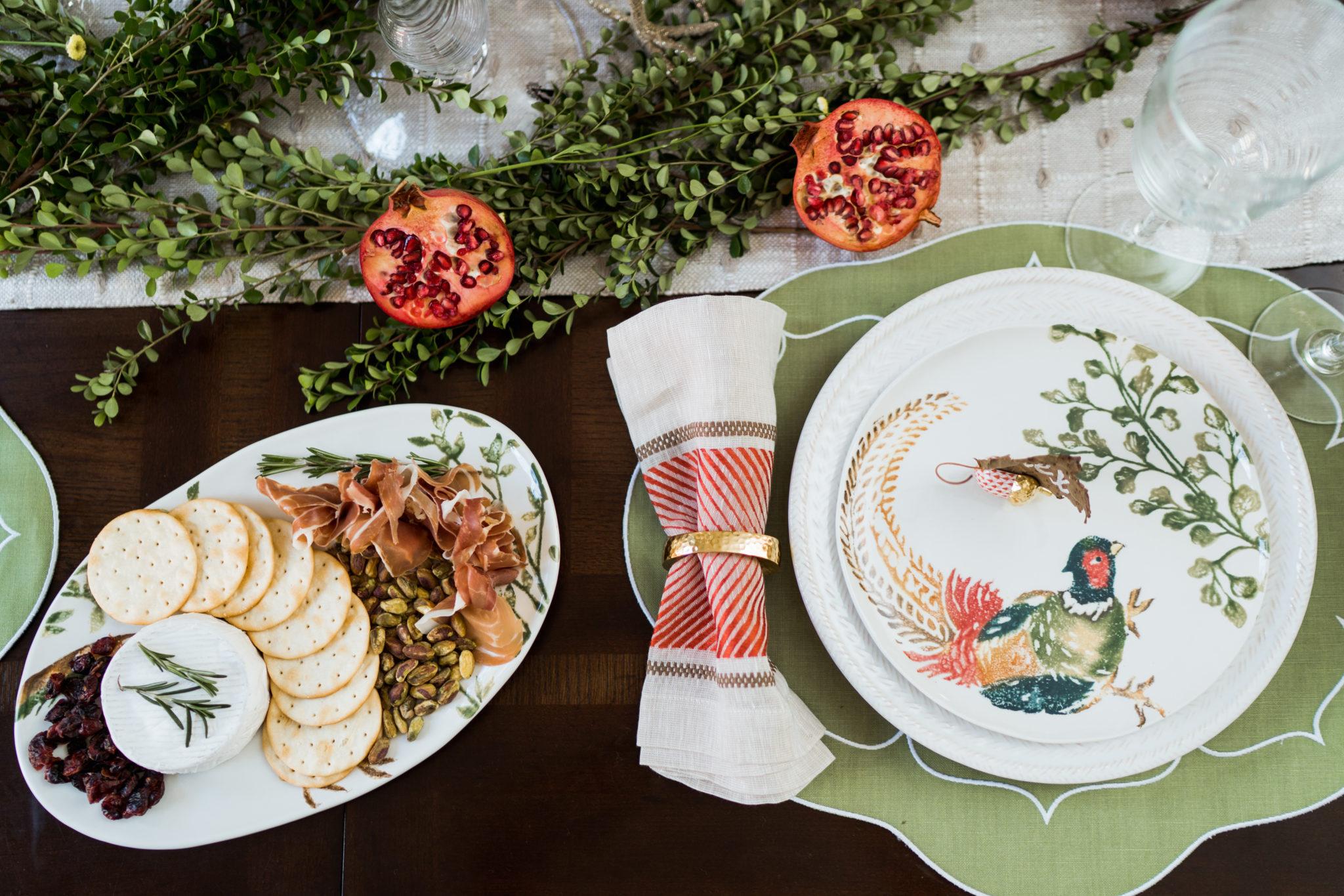 Vietri Fauna Pheasants dinner plates