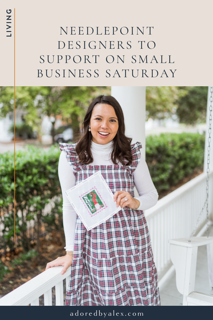Needlepoint Designers to Support to on Small Business Saturday - Adored by Alex