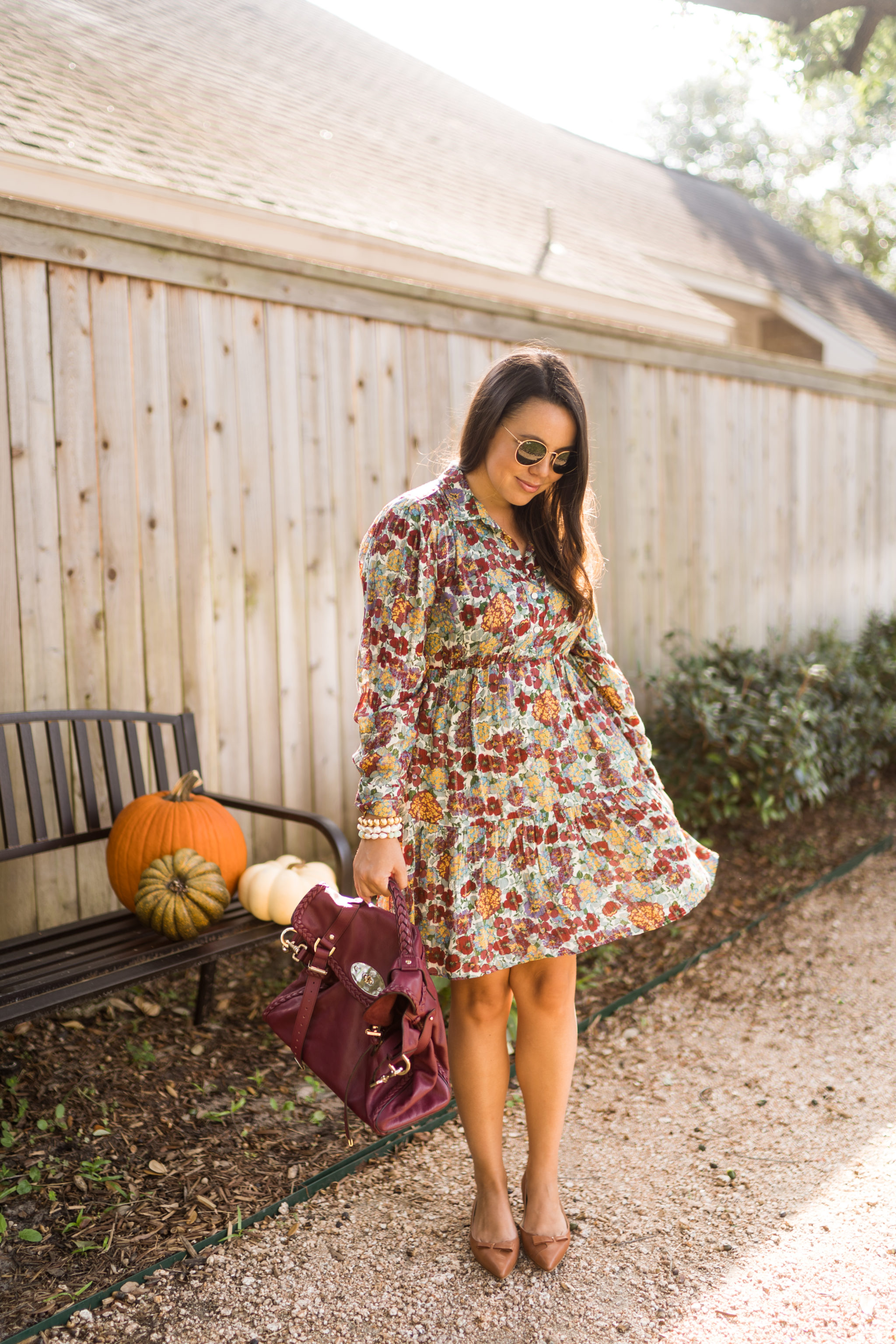 Loose fitting dress for Thanksgiving