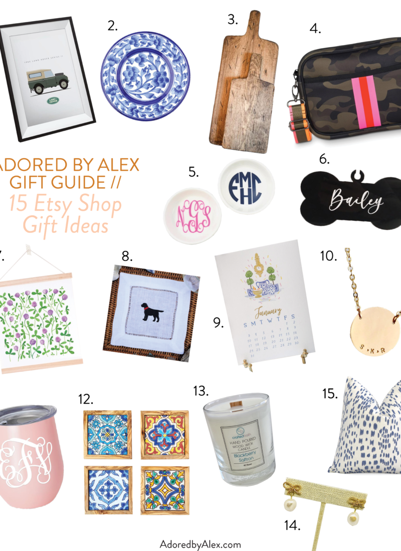 Holiday Gift Guide 2020 // 15 Etsy Shop Gift Ideas