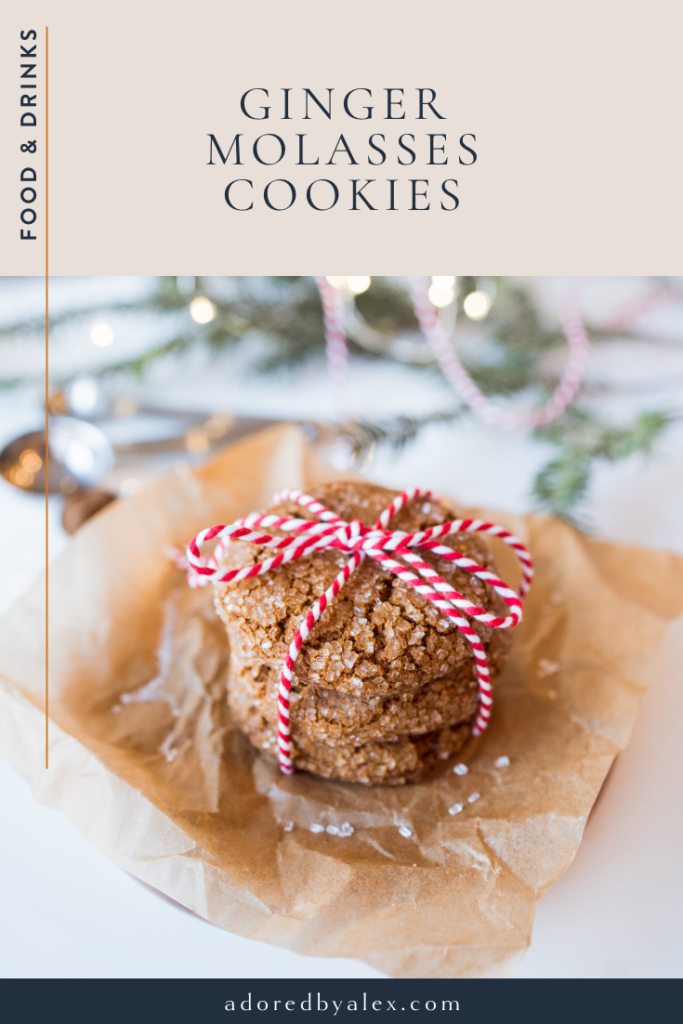 Ginger molasses cookies for the holidays
