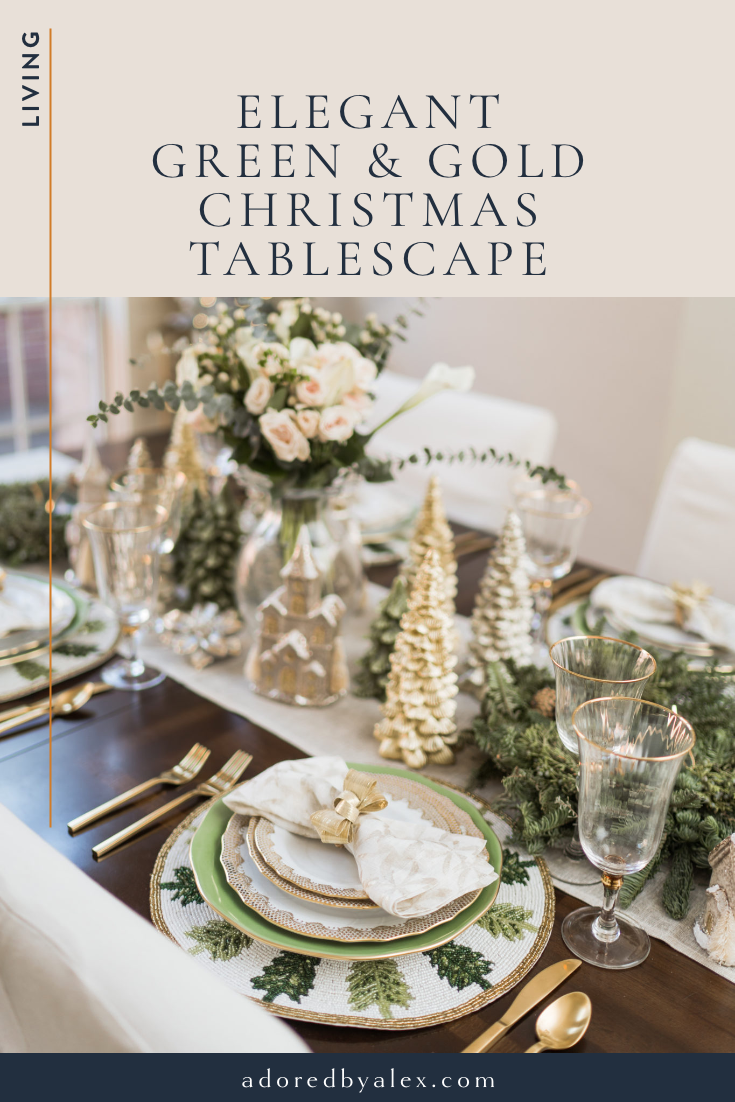 elegant Christmas tablescape - Adored by Alex