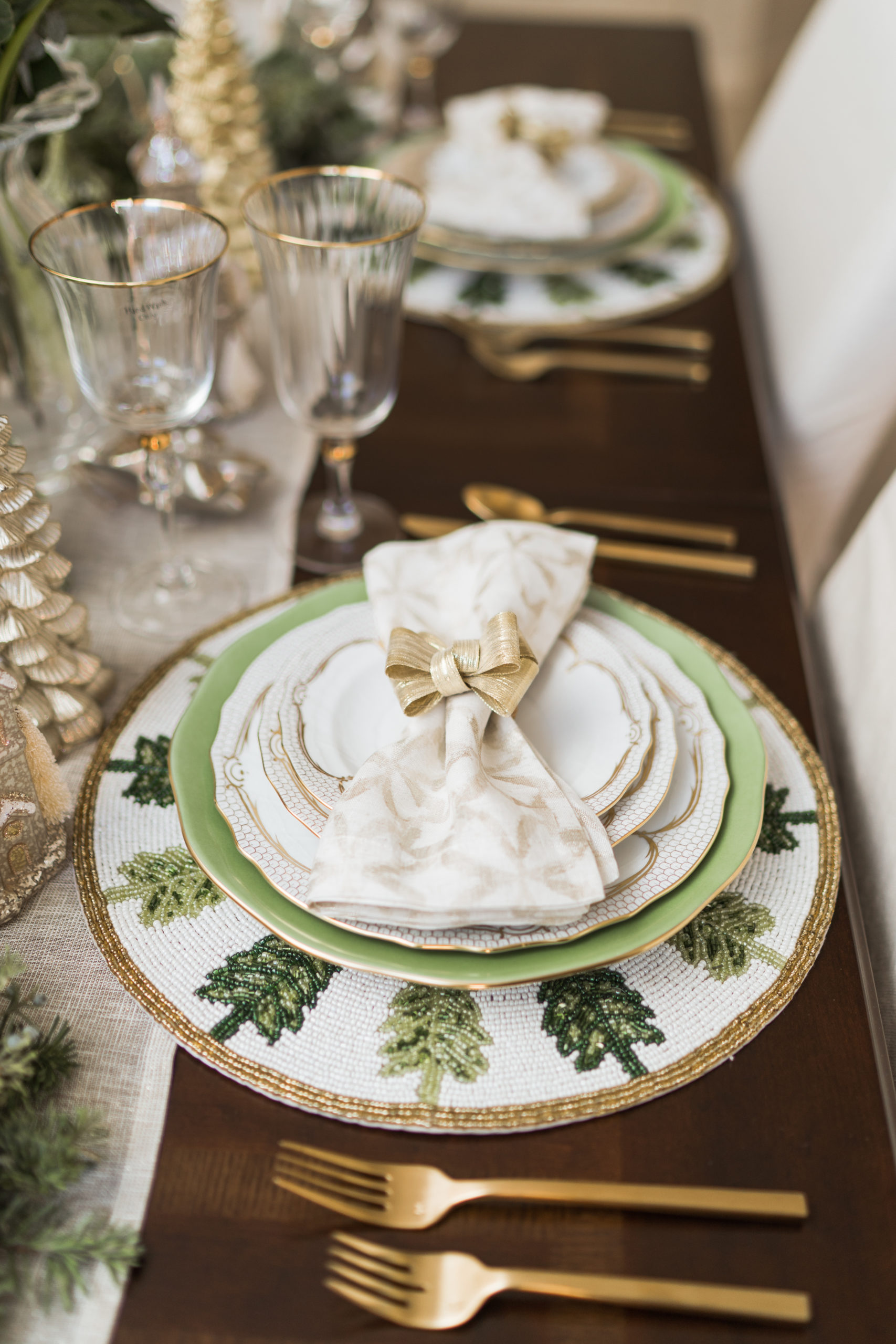 Herend Fish Scale plates and china