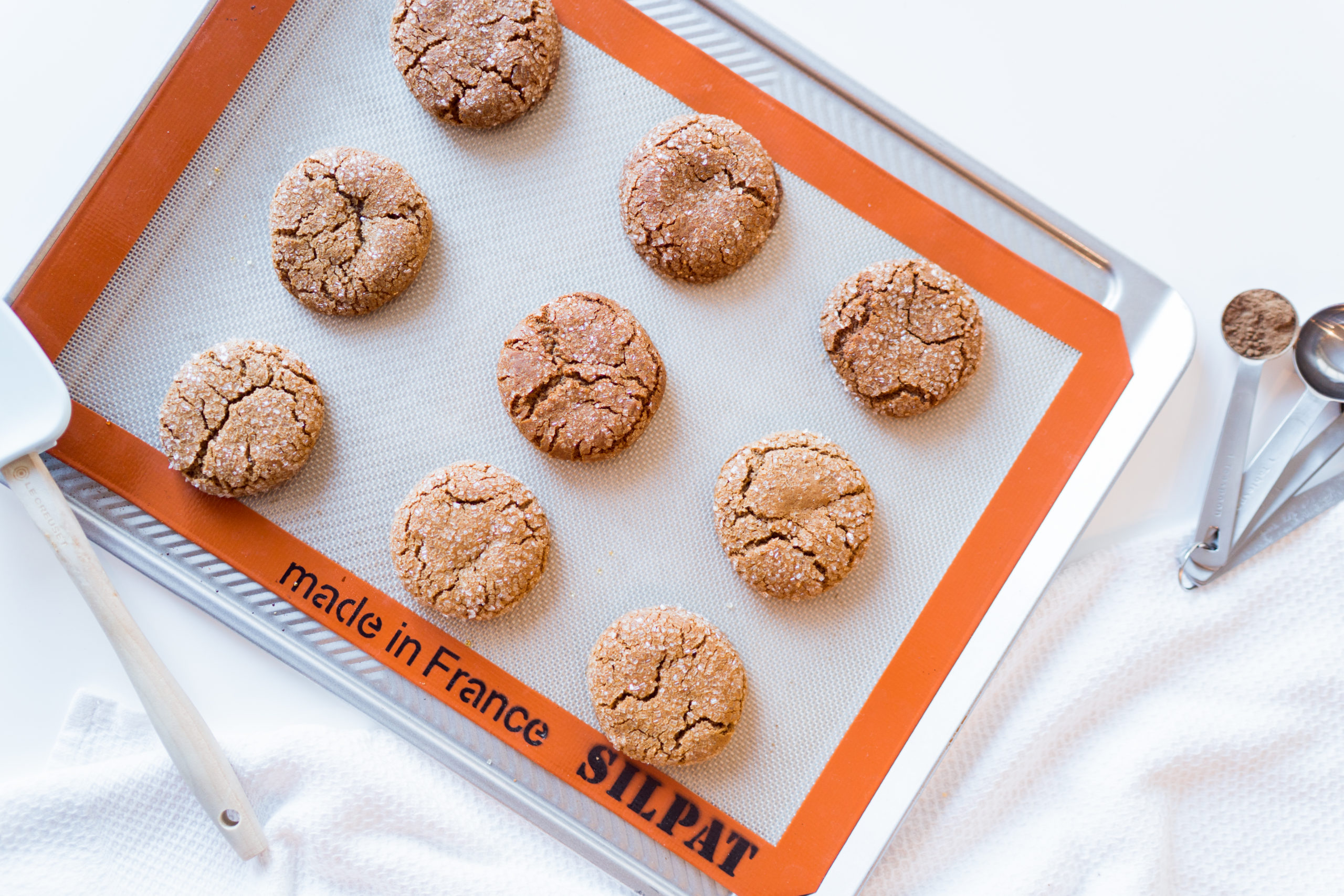 Baked from scratch ginger molasses cookies