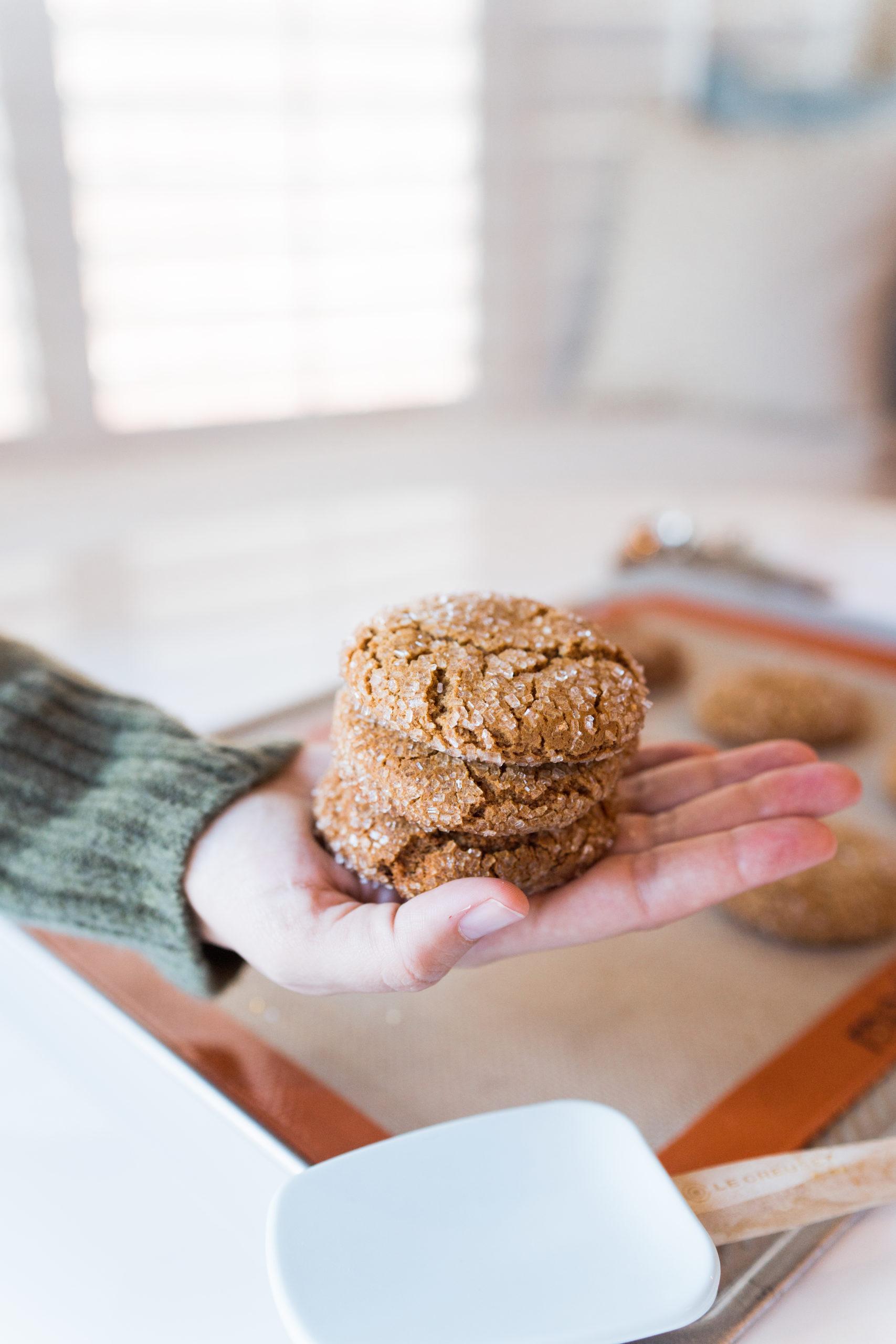 Homemade ginger molasses cookies