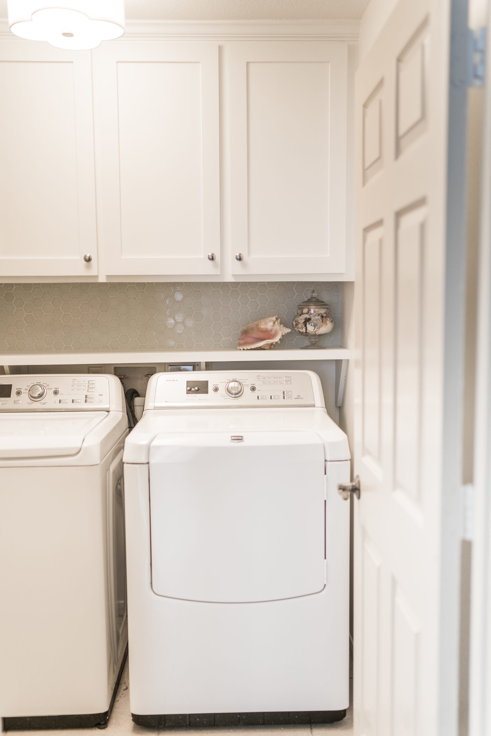 small laundry room makeover and refresh