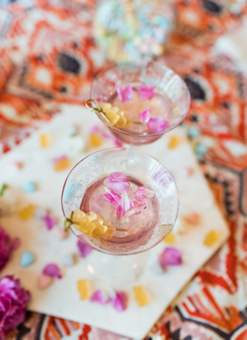 sparkling pink lemonade cocktail - valentine's day drinks