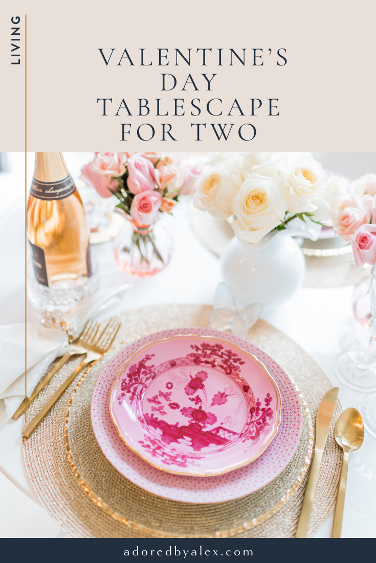 Valentine's Day tablescape for two
