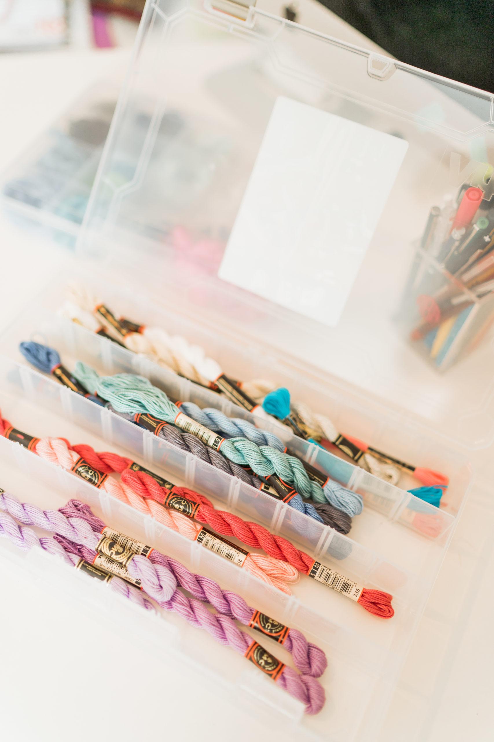 organizing needlepoint threads