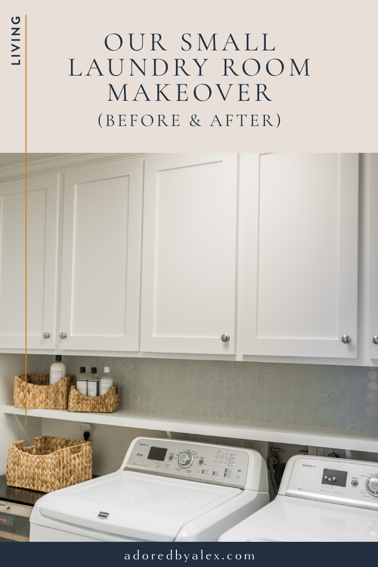 small laundry room makeover - before & after
