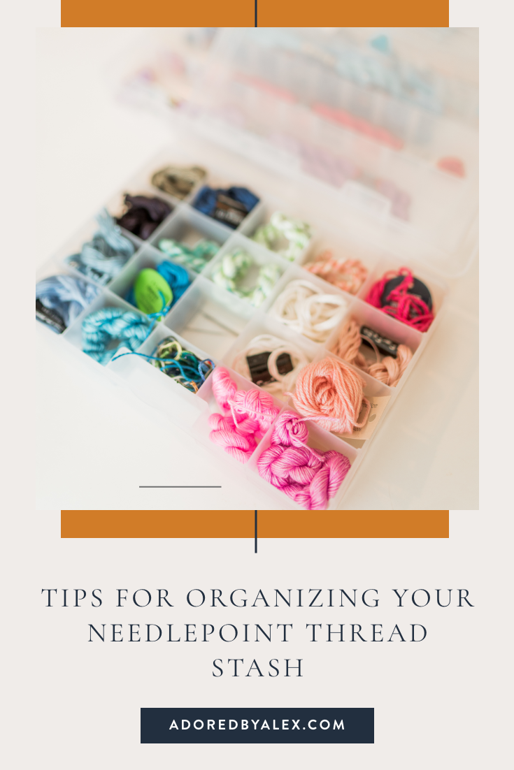 Tips for organizing your needlepoint threads