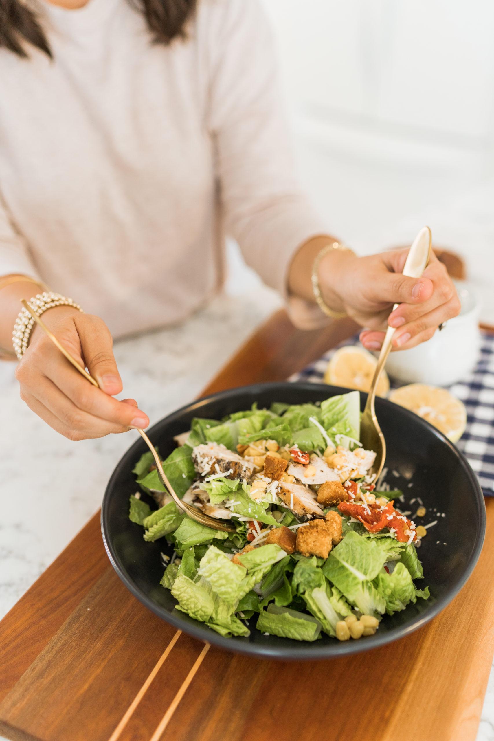 simple caesar salad at home