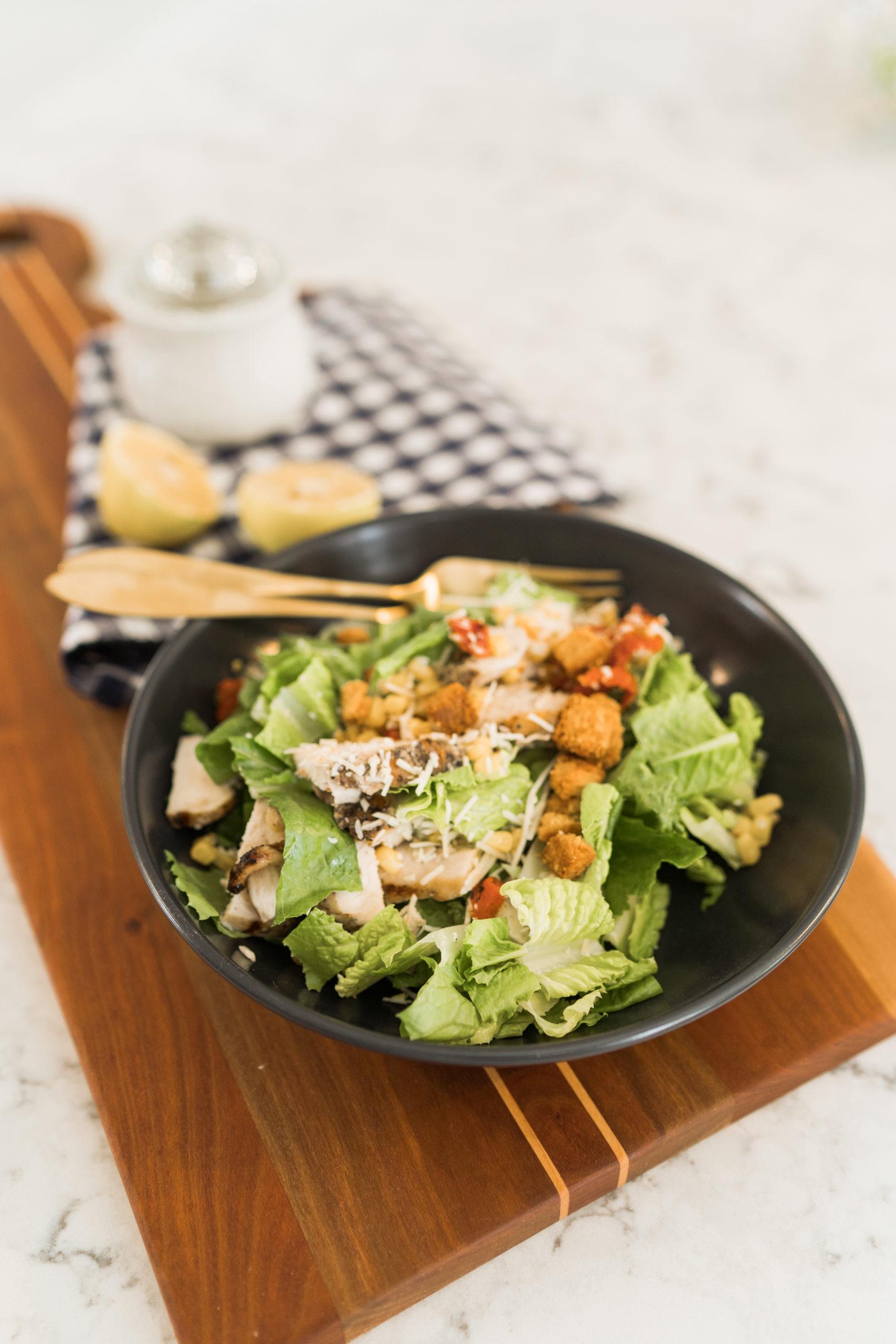 homemade simple Caesar Salad