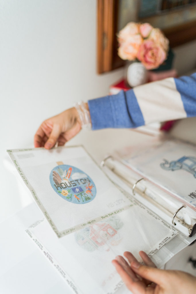 tips for organizing needlepoint canvases