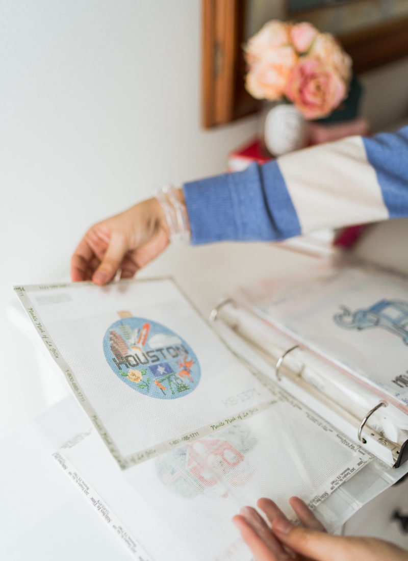 tips for organizing your needlepoint stash