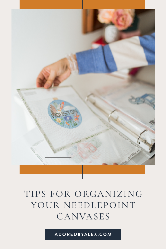 how to organize needlepoint canvases