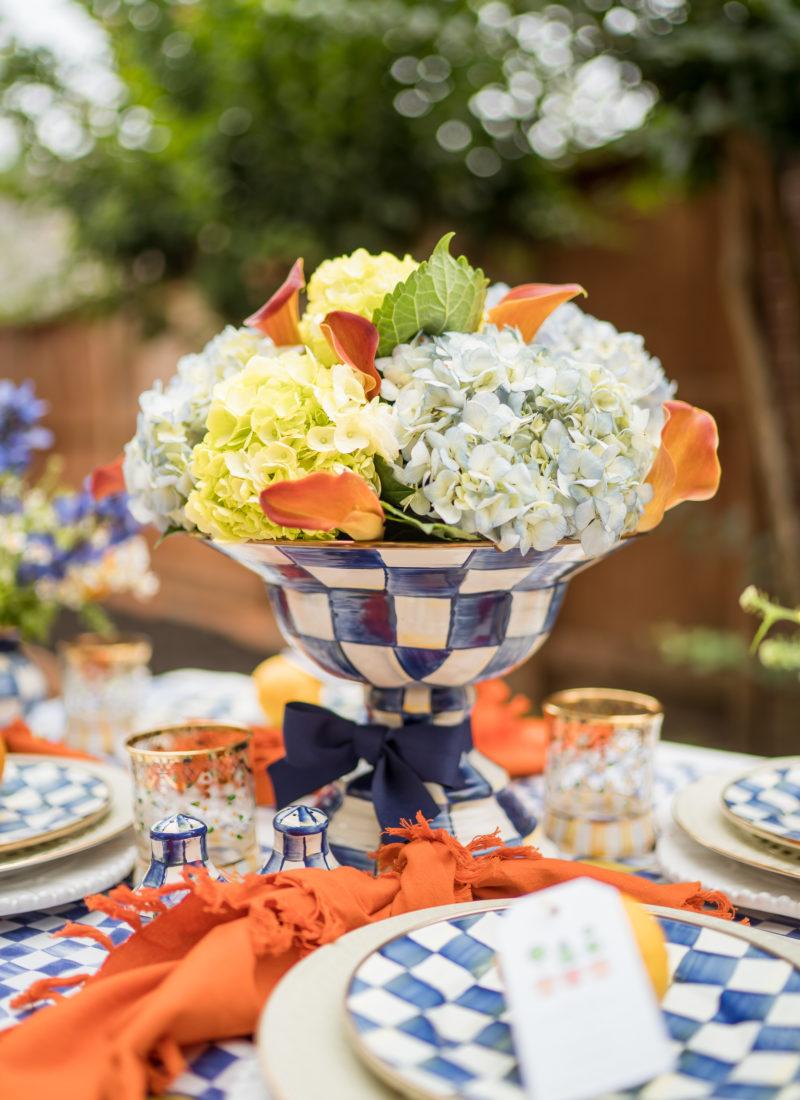 A Summer Al Fresco Table Setting
