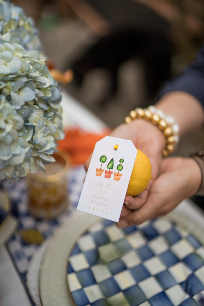 table name card ideas with citrus