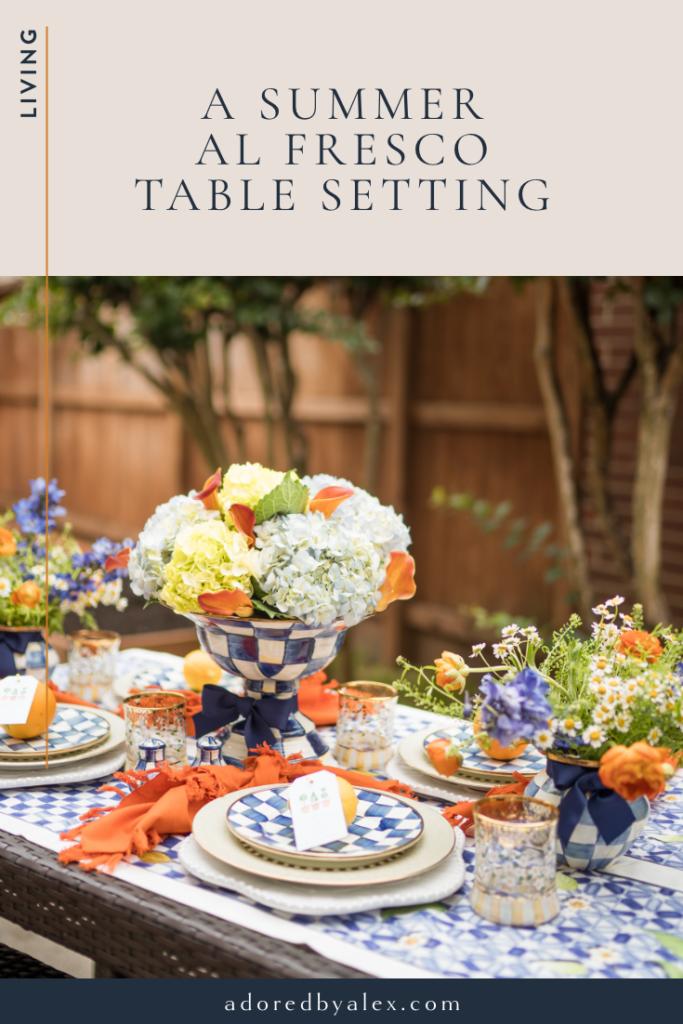 summer al fresco table setting