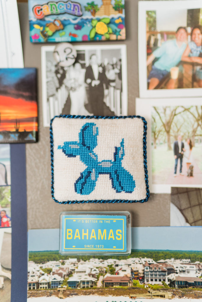 Jessica Tongel Designs needlepoint balloon dog canvas