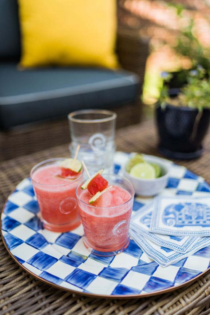 refreshing watermelon lime & rum slush cocktail for summer   Adored by Alex