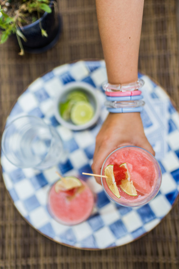 Watermelon Lime slush cocktail for summer   Adored by Alex