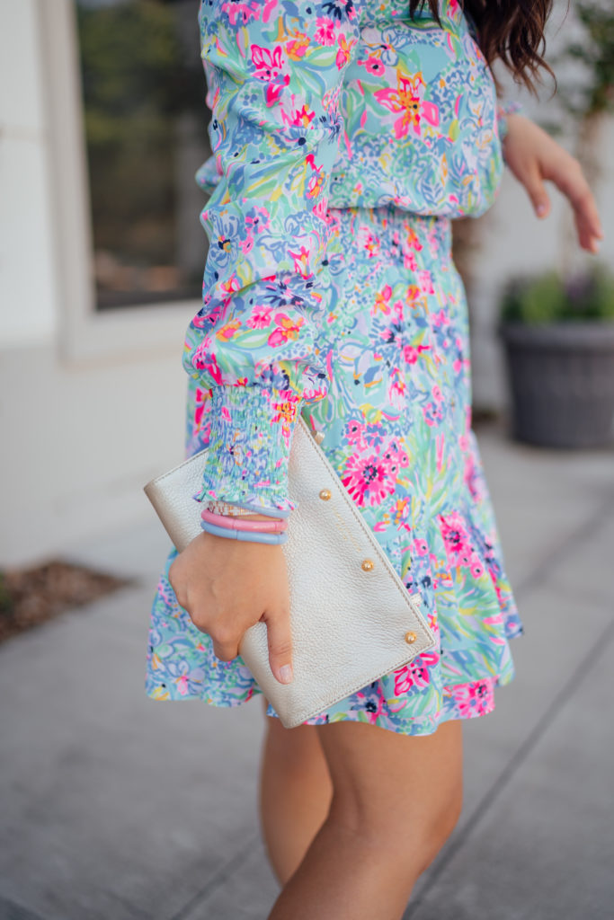 Lilly Pulitzer smocked dress that's a perfect cocktail length for date night or a summer wedding   Adored by Alex