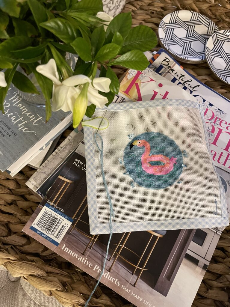 Jessica Tongel Designs needlepoint canvas   Adored by Alex