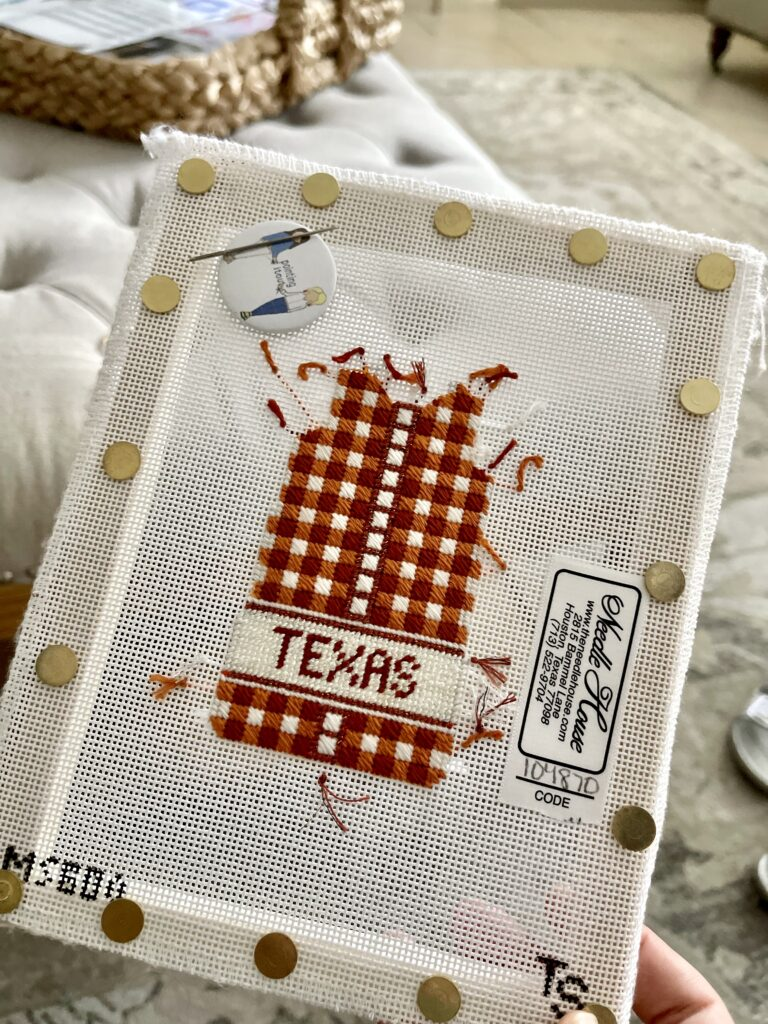 Two Sisters shift needlepoint dress canvas   Adored by Alex
